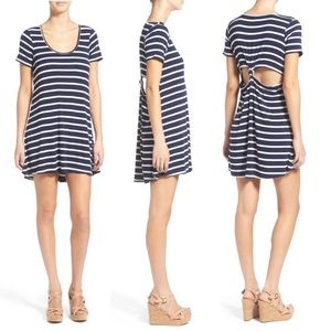 LOVERS + FRIENDS Striped Knot Yours Cutout Dress S